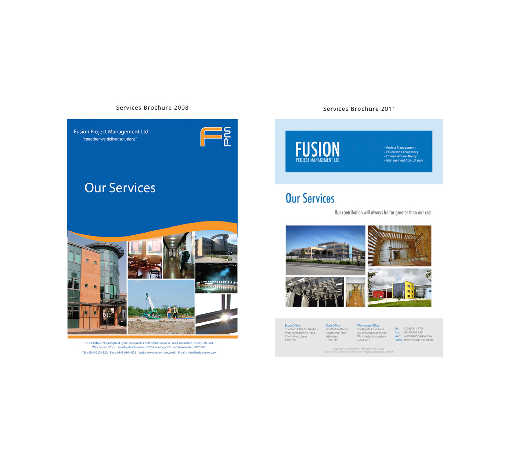 Fusion Project Management - Website Design and Graphic Design